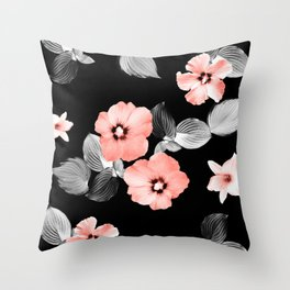 Living Coral Floral Dream #1 #flower #pattern #decor #art #society6 Throw Pillow