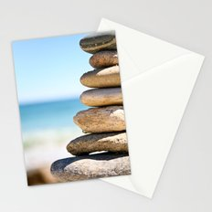 stacked rocks Stationery Cards