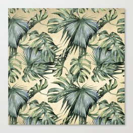Palm Leaves Classic Linen Canvas Print