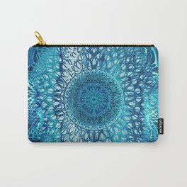 Teal Lotus Mandala Carry-All Pouch