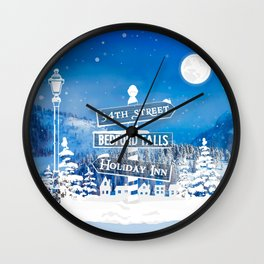 Classic Christmas Towns Wall Clock