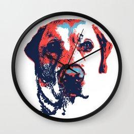 Patriotic Labrador  Wall Clock