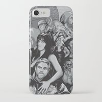sons of anarchy iPhone & iPod Cases featuring Sons of Anarchy by Denis O'Sullivan