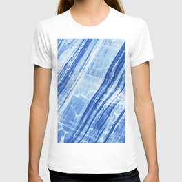 Abstract Marble - Denim Blue T-shirt