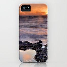 Red sunset. Mediteranean sea iPhone Case