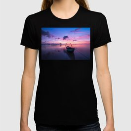 Rowboat and Sunrise on the Water T-shirt