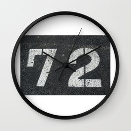 The 72 SOLD!  Wall Clock