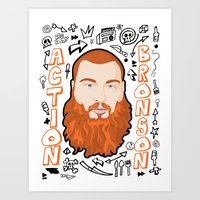 action bronson Art Prints featuring Action Bronson Portrait 2 by Chad Trutt