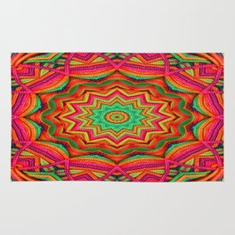 3D color kaleidoscope plus Rug