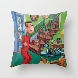 Santa Was Here! Throw Pillow