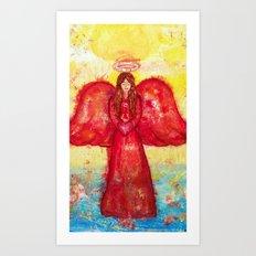 Joy the Angel of Happiness Art Print