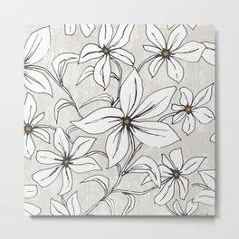 Lilium - Botanical Floral Stone Metal Print
