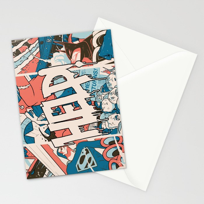 Save us. Stationery Cards