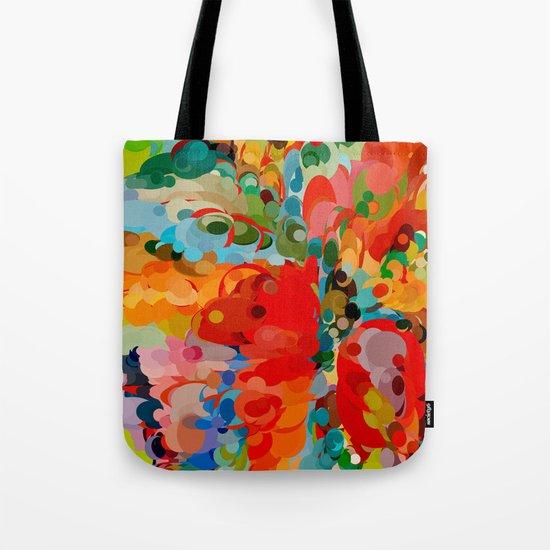 color bubble storm Tote Bag