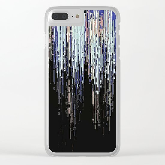 Ice Pixels Clear iPhone Case