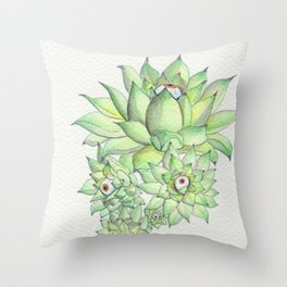 Sempervivum Eyes Throw Pillow