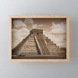 Chichen Itza Sepia Framed Mini Art Print