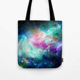 Teal Galaxy Tote Bag