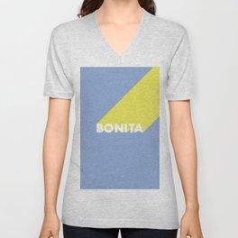 BONITA Blue Unisex V-Neck