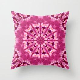 Mandala rhodochrosite Throw Pillow
