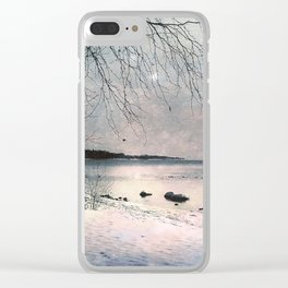 Winter's day Clear iPhone Case