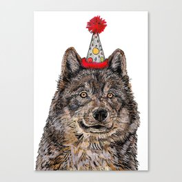 Wolf Party Canvas Print