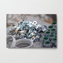 Hardware Pieces Metal Print
