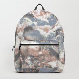 Marble Mist Terra Cotta Blue Backpack