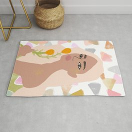 Golden flower Rug
