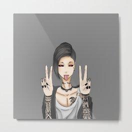 Tokyo Ghoul, Uta Peace Sign Metal Print