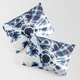 Tie Dye Sunburst Blue Pillow Sham