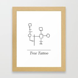 Tree Tattoo Framed Art Print