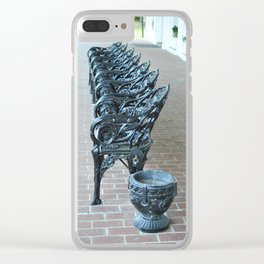 SOCIETY PORCH IRON SEATING Clear iPhone Case