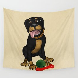The friendly dog Wall Tapestry
