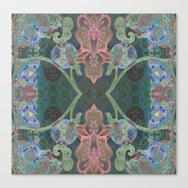 Elegant Detailed Orchid Meditation Pattern Canvas Print