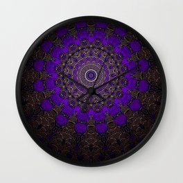 Purple Infinity Wall Clock