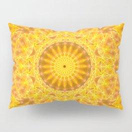 Golden Dreams Mandala Pillow Sham