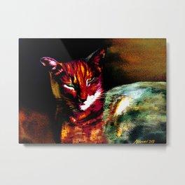 Lucifer Sam Tiger Cat Metal Print