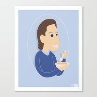 seinfeld Canvas Prints featuring Jerry Seinfeld by gregmsna
