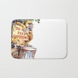 do not feed baboons Bath Mat