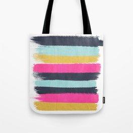 Inez - Brushstroke print in bold, modern colors Tote Bag