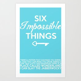 Impossible Things Art Print