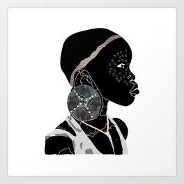 African Girl F Art Print