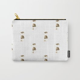 Elephant and Beret Sepia Carry-All Pouch
