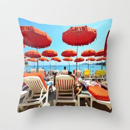 Another Day In The French Riviera Throw Pillow