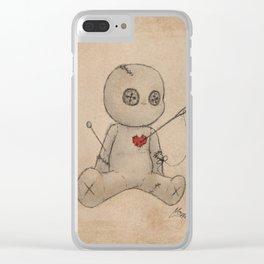 Sew Me Up Again Clear iPhone Case