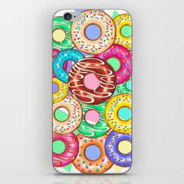Donuts Punchy Pastel flavours Pattern iPhone Skin