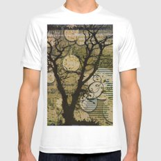 Silhouette MEDIUM White Mens Fitted Tee