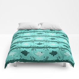 Deep Water Mosaic Comforters