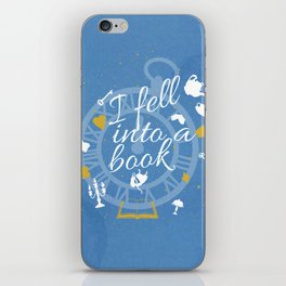 I Fell Into A Book iPhone Skin